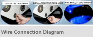 Drain Plug LED boat lights installation