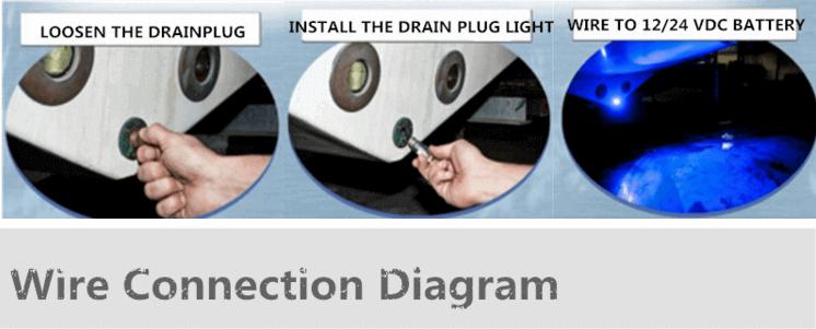 Drain Plug LED boat lights installation