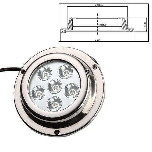 6x3w Stainless Steel Surface Mounted Led Marine Lights